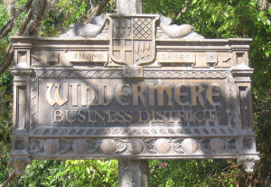 Windermere Business District sign (public domain)