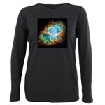 Crab Nebula1 plus size long sleeve t at sunisthefuture.com