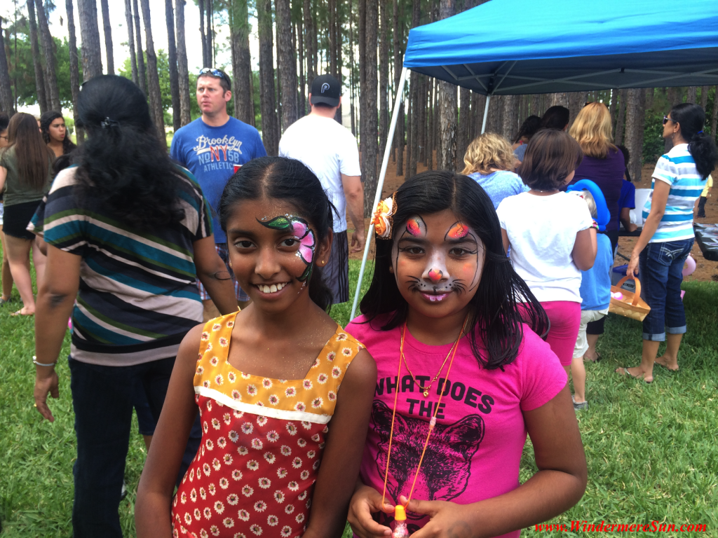 Facepainting activity at Spring Party of Windermere neighborhood (credit: Windermere Sun-Susan Sun Nunamaker)
