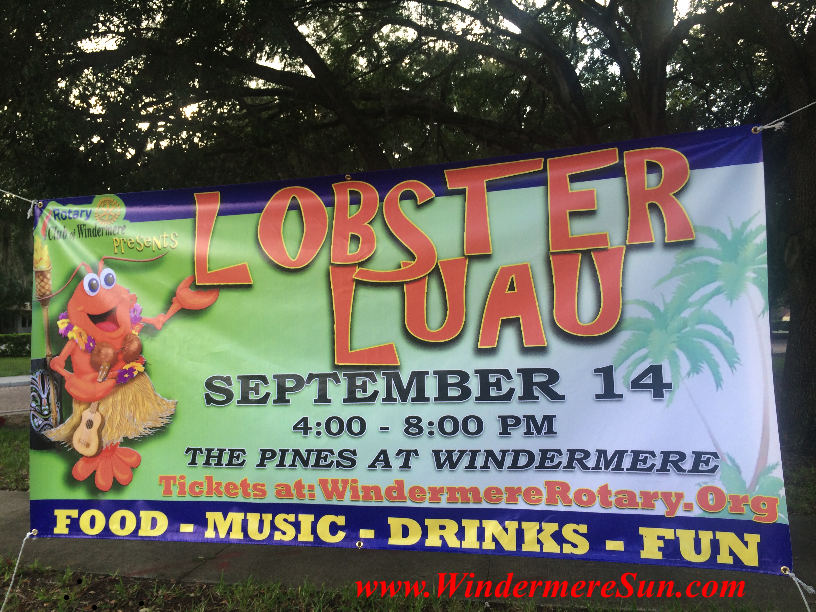 Lobster Luau at the Pines, Sept. 14, 2014, 4:00-8:00 P.M. (credit: Windermere Sun-Susan Sun Nunamaker)