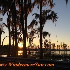 Sunset at Lake Butler (credit: Windermere Sun-Susan Sun Nunamaker)