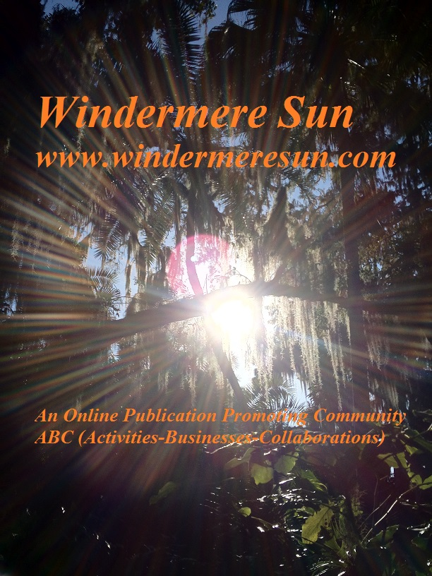 Windermere Sun, www.WindermereSun.com (credit: Susan Sun Nunamaker, Founder, Editor-In-Chief, and photographer of Windermere Sun)
