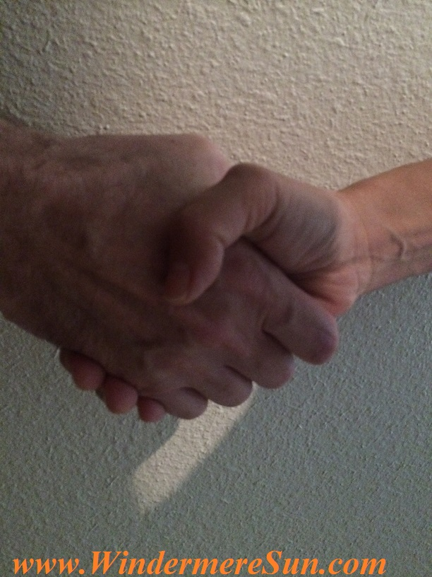 Handshake (credit: Windermere Sun)