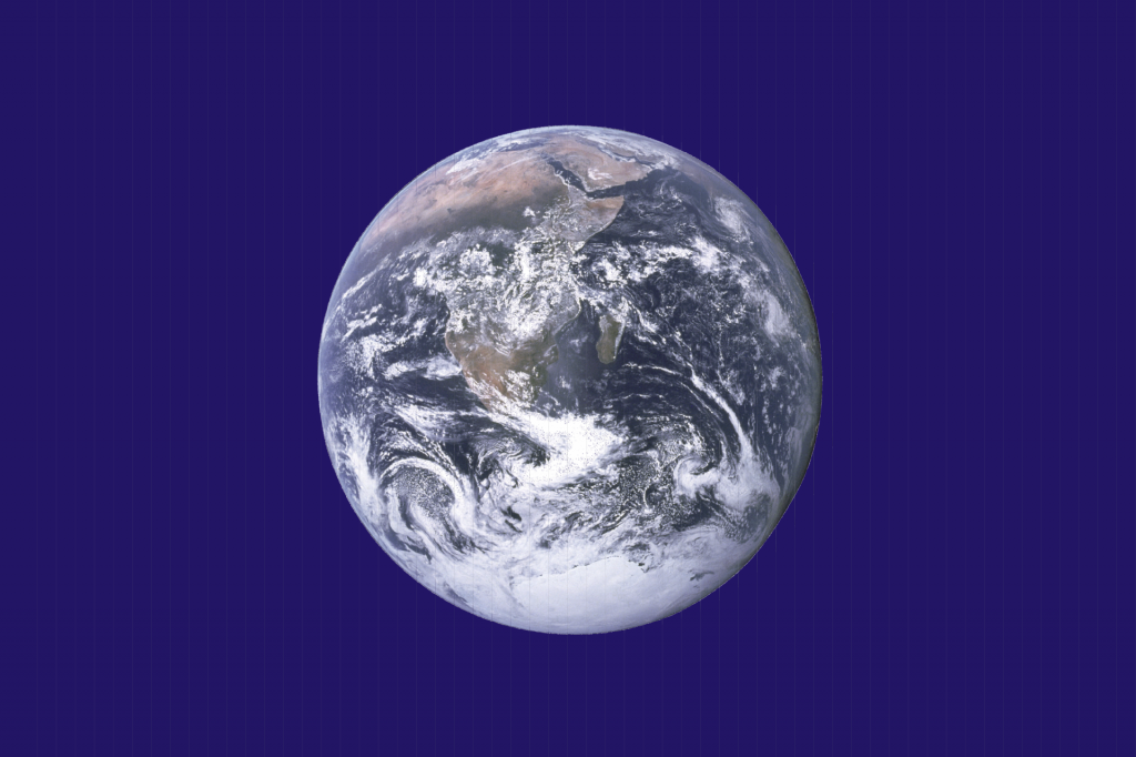 Earth Day flag created by John McConnell NASA