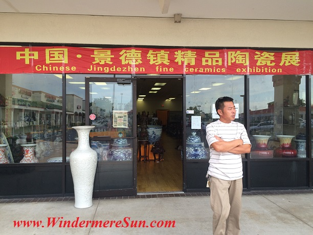 Chinese Fine Ceramics Shop near First Oriental Supermarket in Orlando (credit: Windermere SUn-Susan Sun Nunamaker)