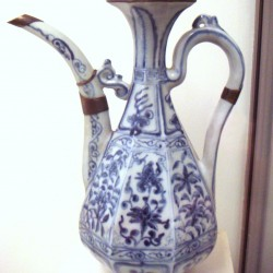 Jingdezhen-Early blue and white ware circa 1335, Jingdezhen, now in Musee/Museum Guimet (Attrib: World Imaging)