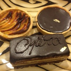 My French Cafe-apple tart, chocolate tart, opera
