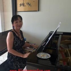 Tai Shen Book Bar piano teacher Liu Yun (credit: Windermere Sun-Susan Sun Nunamaker)