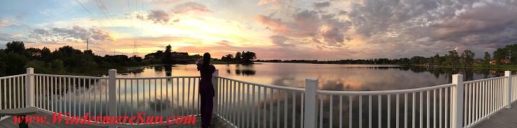 Windermere Sunset-Susan at Windermere Sunset panaramic (credit: Michael Nunamaker)
