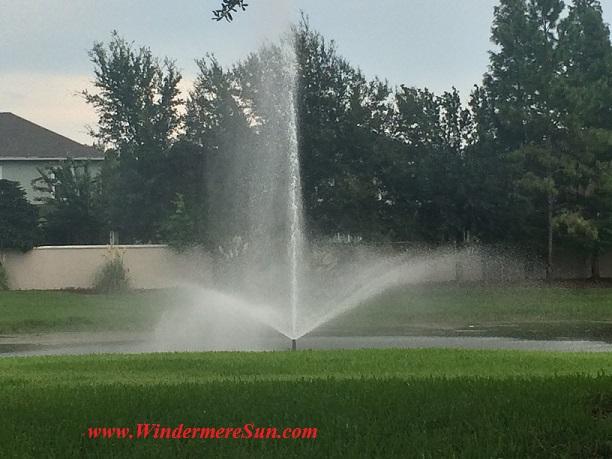 Repaired Fountain (credit: Windermere Sun-Susan Sun Nunamaker)