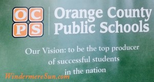 Vision of OCPS (Orange County Public School) (photographed by: Windermere Sun-Susan Sun Nunamaker)