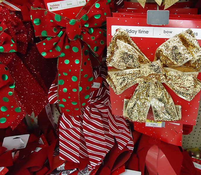 Holiday ribbons (creative commons)