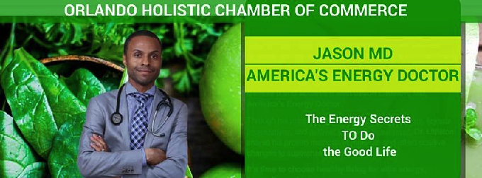 Dr. Jason Littleton-America's Energy Doctor, will be speaking at Inspirit Yoga Studio (7575 Kingspointe Pkwy, Set 21, Orlando, FL, 32819) on Nov. 10, 2015, 6:30 pm-8:00 pm. for November meeting of Holistic Chamber of Commerce of Orlando