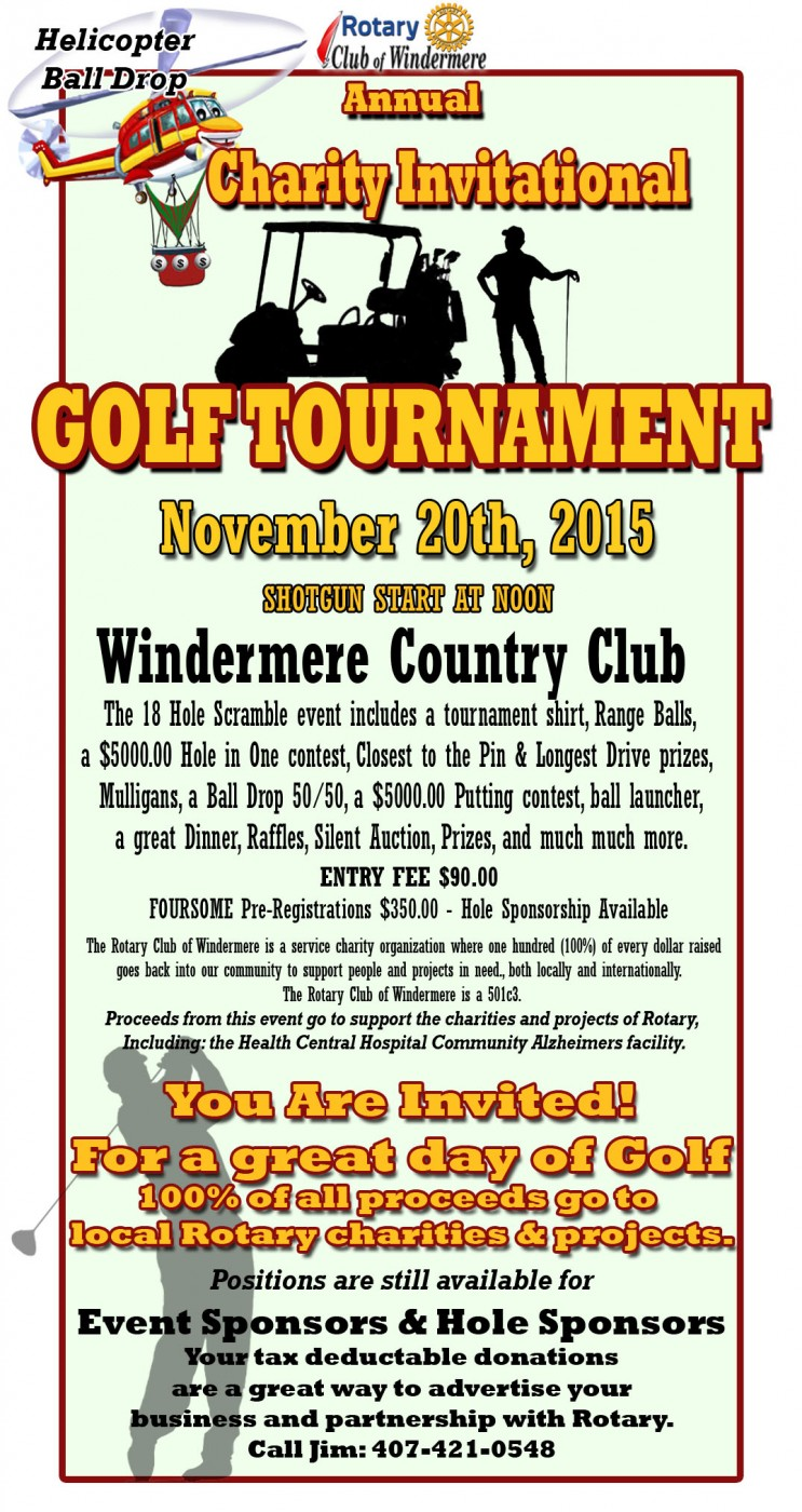Windermere Country Club Golf Tournament