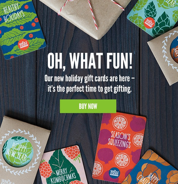 Whole Food gift cards during holiday (credit: Windermere Sun-Susan Sun Nunamaker)