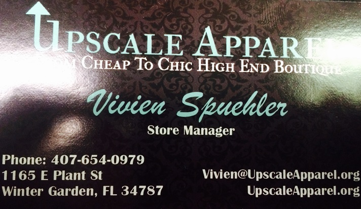 Upscale Apparel at 1165 E. Plant St., Winter Garden, FL, 407-654-0979 (credit: Windermere Sun-Susan Sun Nunamaker)
