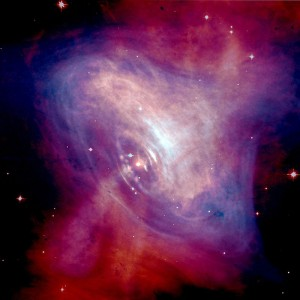 The pulsar in the Crab nebula is travelling at 375 km/s relative to the nebula