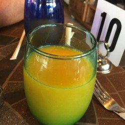Le Cafe de Paris-fresh squeezed oj