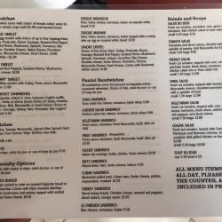 Menu2 of Le Cafe de Paris , 5170 Dr. Phillips Blvd., Orlando, FL , 407-293-2326