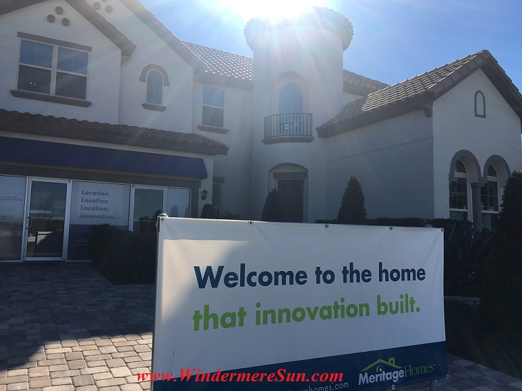 Meritage Homes, Enclave at Windermere Landing, 11536 Chase Road, Windermere, FL, www.meritagehomes.com, 407-968-9343, 407-461-8390 (credit: Windermere Sun-Susan Sun Nunamaker)