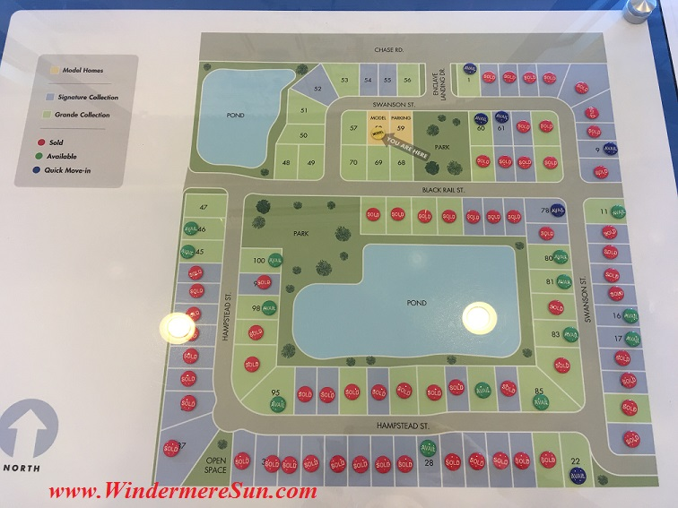 Meritage Homes plots in Enclave at Windermere Landing