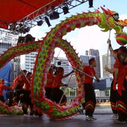 Chinese New Year-Dança_do_dragão-Dragon Dance by Chinese Youth Society of Melbourne in Australia