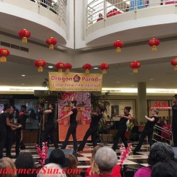 African American dancers' celebration of Dragon Parade & Lunar New Year celebration at Fashion Square Mall of Orlando, FL (credit: Windermere Sun-Susan Sun Nunamaker)