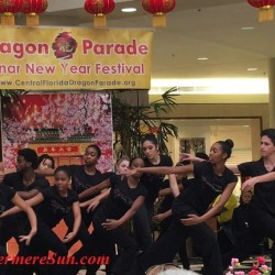 African American Dancers' celebrating Dragon Parade & Lunar New Year celebration at Fashion Square Mall of Orlando, FL (credit: Windermere Sun-Susan Sun Nunamaker)