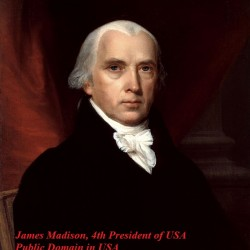 James_Madison 4th President of USA ( public domain in USA)
