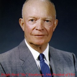 "34th President of USA, Dwight David ""Ike"" Eisenhower"