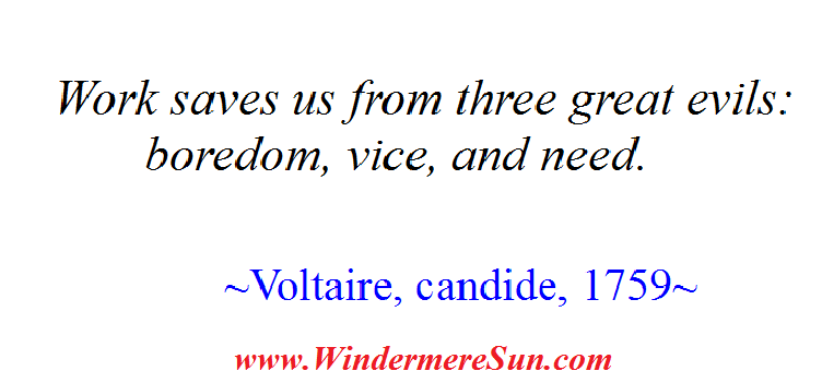 Voltaire on Work (credit; Windermere Sun-Susan Sun Nunamaker)