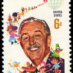 Walt Disney stamp public domain