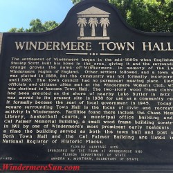 Windermere Town Hall sign of Windermere, FL (credit: Windermere Sun-Susan Sun Nunamaker)