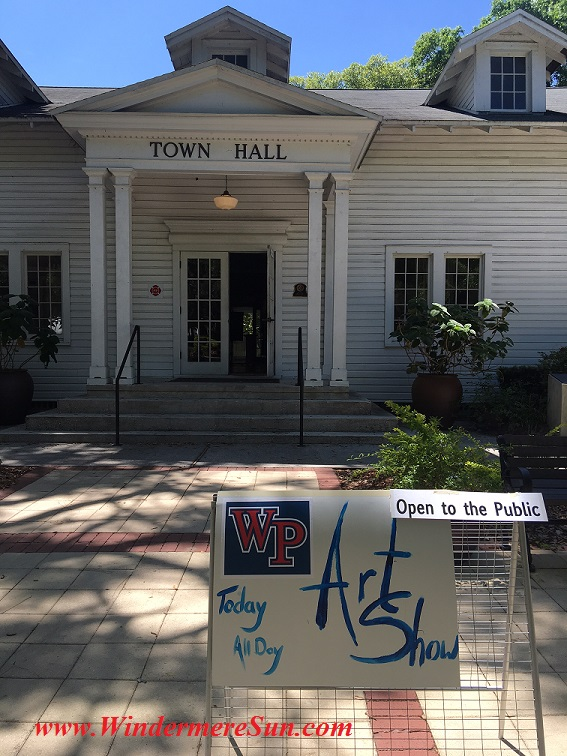 Art Show of Windermere Prep School 2016-sign w Town Hall final