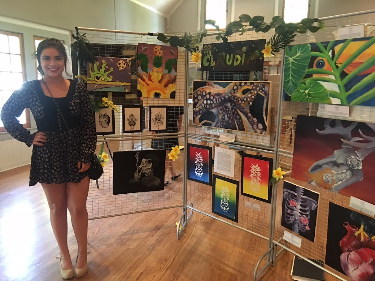 Art Show of Windermere Prep School- student artist Claudia Verbass
