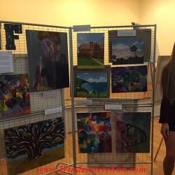 Art Show of Windermere Prep School- student artist Natalie Farnella w her art works (photographed by Windermere Sun-Susan Sun Nunamaker)