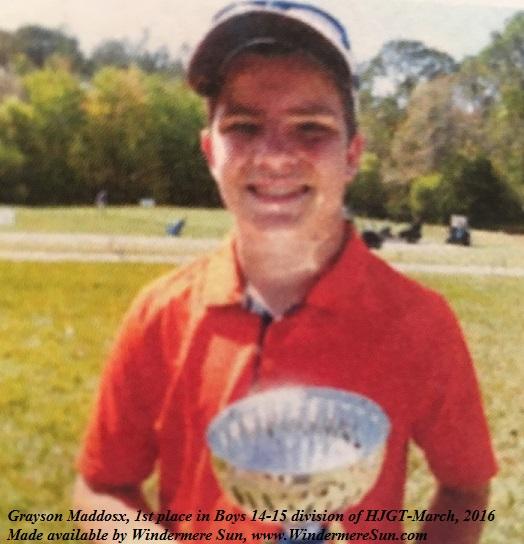 Hurricane Junior Golf Tour-Grayson Maddox final