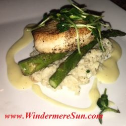 K Restaurant-Swordfish (credit: Windermere Sun-Susan Sun Nunamaker)