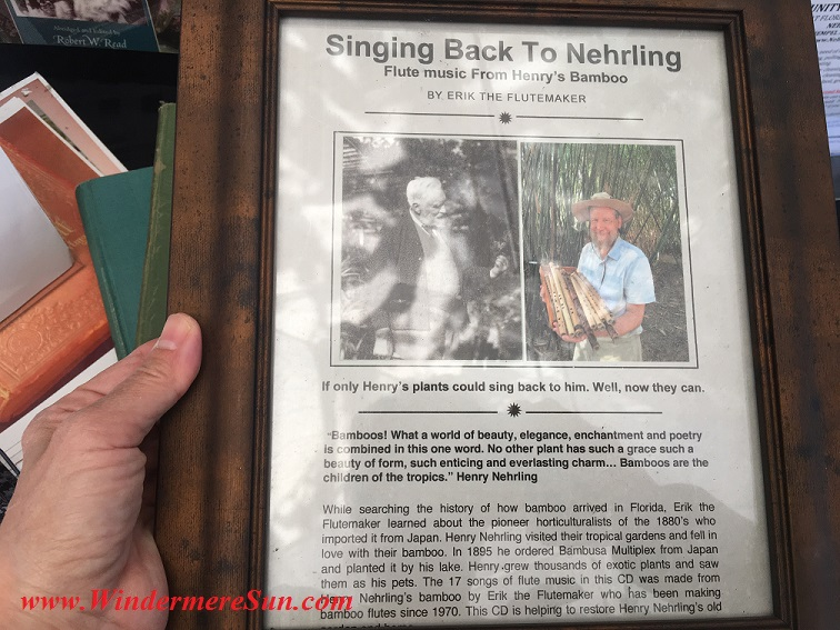 Information about Dr. Henry Nehrling of Nehrling Garden during 12th Annual Windermere Treebute on Jan. 16, 2016) (credit: Windermere Sun-Susan Sun Nunamaker)