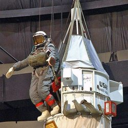 Kittinger-Replica of Excelsior III gondola and mannequin of Kittinger at the National Museum of the U.S. Air Force
