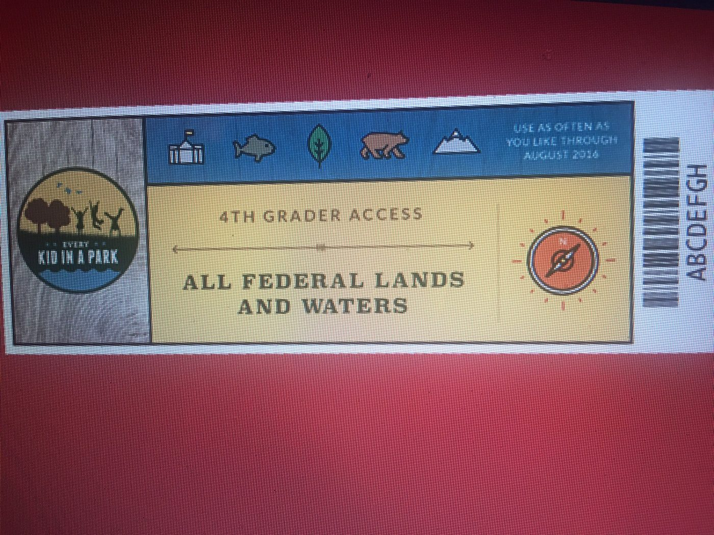 National Parks4-Free Pass
