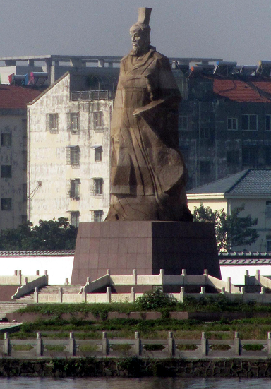 Qu Yuan in Jingzhou, at the site of the former Chu capital Ying. Author Popolon CC Share Attrib final