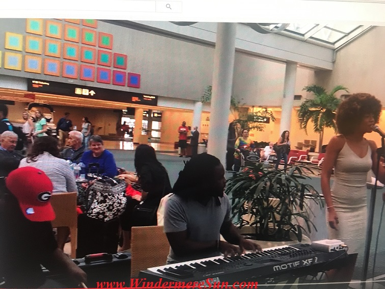 Sweet Bea (Beatrice Roberts) and The Boys (Darron Dunbar & Dante Dunbar) at Orlando International Airport (credit: Windermere Sun-Susan Sun Nunamaker)