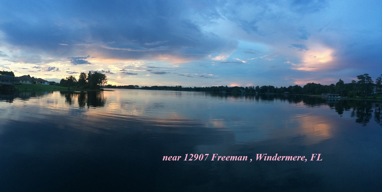 Windermere Blue Sunset Panaramic3 near 12907 Freeman house
