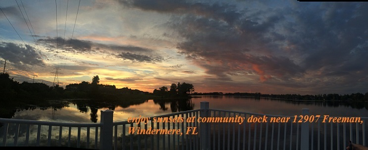 Windermere Sunset Pan8 community dock near 12907 Freeman final