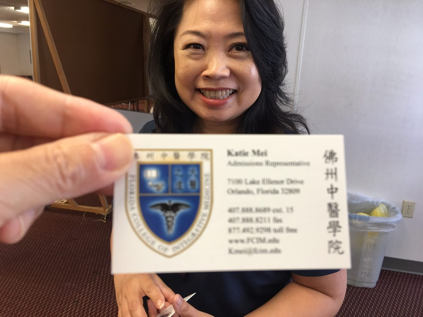 FCIM, Florida College of Integrative Medicine-Katie Mei, Admissions Rep