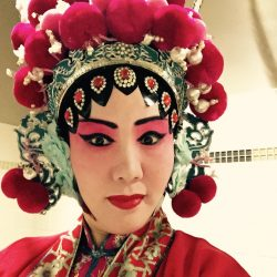 Jie Yu in elaborate costume of Peking Opera