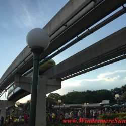One may take monorail to Magic Kingdom. Many people got the same idea: Beautiful sunny day to visit Magic Kingdom (credit: Windermere Sun-Susan Sun Nunamaker)
