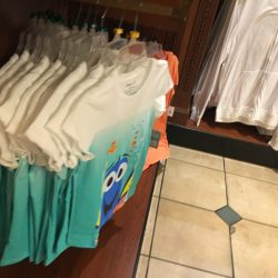 Finding Dory t-shirt inside giftshop of Magic Kingdom. Many people got the same idea: Beautiful sunny day to visit Magic Kingdom (credit: Windermere Sun-Susan Sun Nunamaker)
