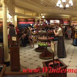 Giftshop at Magic Kingdom. Many people got the same idea: Beautiful sunny day to visit Magic Kingdom (credit: Windermere Sun-Susan Sun Nunamaker)
